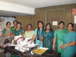 SERVING FOOD AFTER SUNDAY WORSHIP